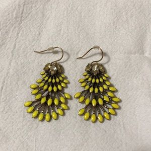 Stella and Dot yellow dangling earrings